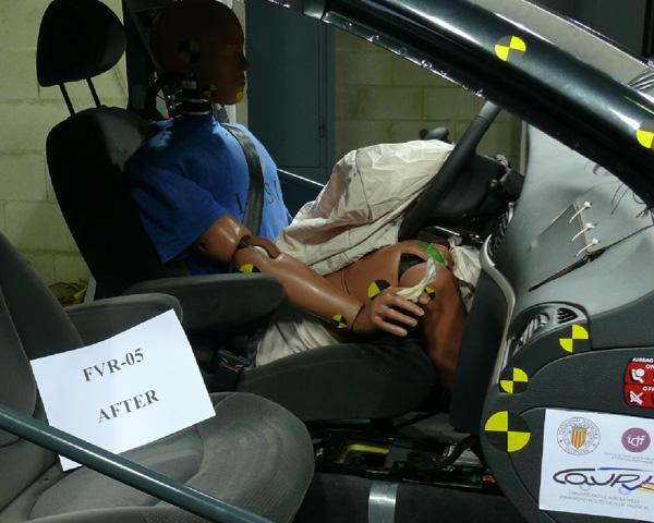 Pruebas realizadas a lo largo de los últimos 3 años para mejorar la seguridad pasiva de los vehículos adaptados a conductores con discapacidad