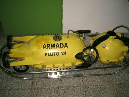submarino Pluto Plus, cedido por un periodo de 7 años, por el Ministerio de Defensa para el Proyecto DIVISAMOS de Diseño de Vehículos de Inspección Submarina Autónoma para Misiones Oceanográficas