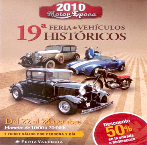 19ª Feria de Vehículos Históricos de Valencia, MOTOR ÉPOCA